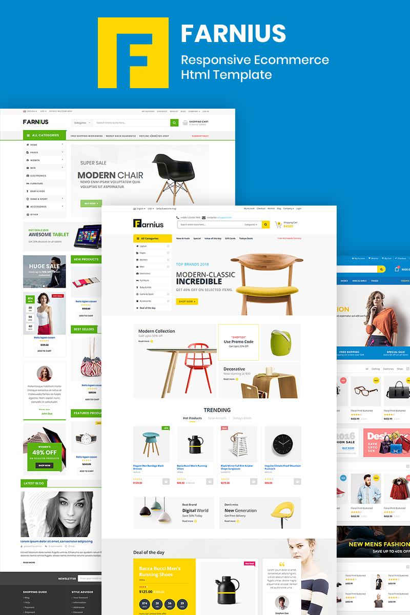"""Farnius - Furniture Store HTML5"" - адаптивний Шаблон сайту №76194"
