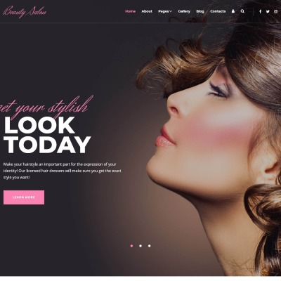 "Joomla Vorlage namens ""Modern Ready-To-Use Beauty Salon"" #76172"