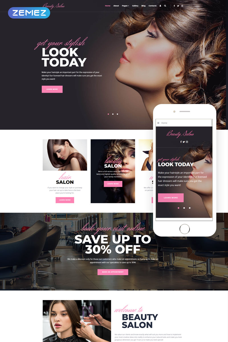 Modern Ready-To-Use Beauty Salon Joomla Template