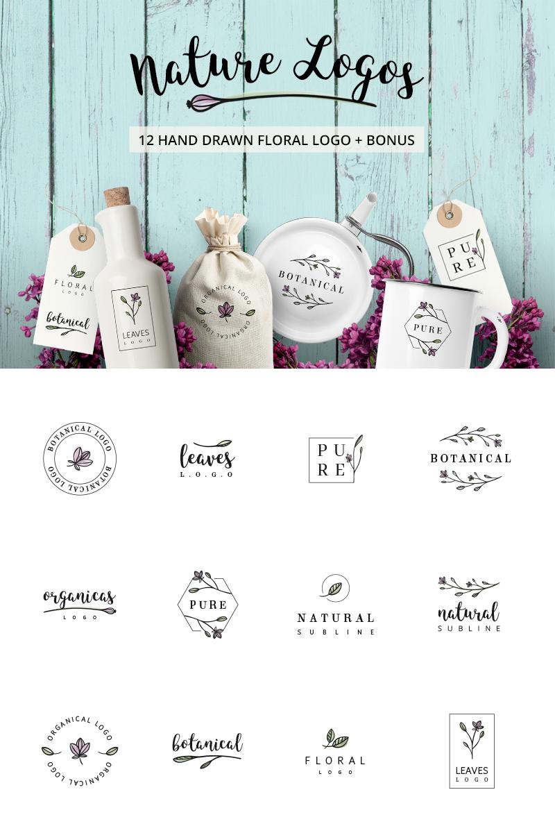 Nature & floral premade logos + BONUS Unika logotyp mall #76100