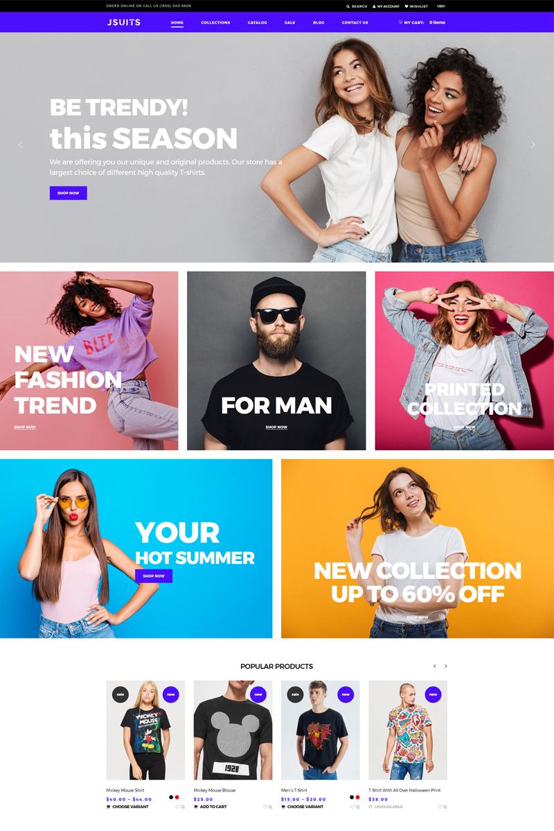 Responsywny szablon Shopify Jsuits - Clothing Multicurrency Fancy #76138