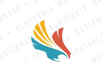 Swooping Hawk Logo Template