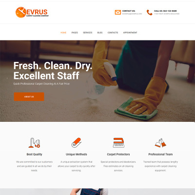"""Tema WordPress Responsive #76173 """"Evrus - Carpet Cleaning and Desinfection"""" #76173"""