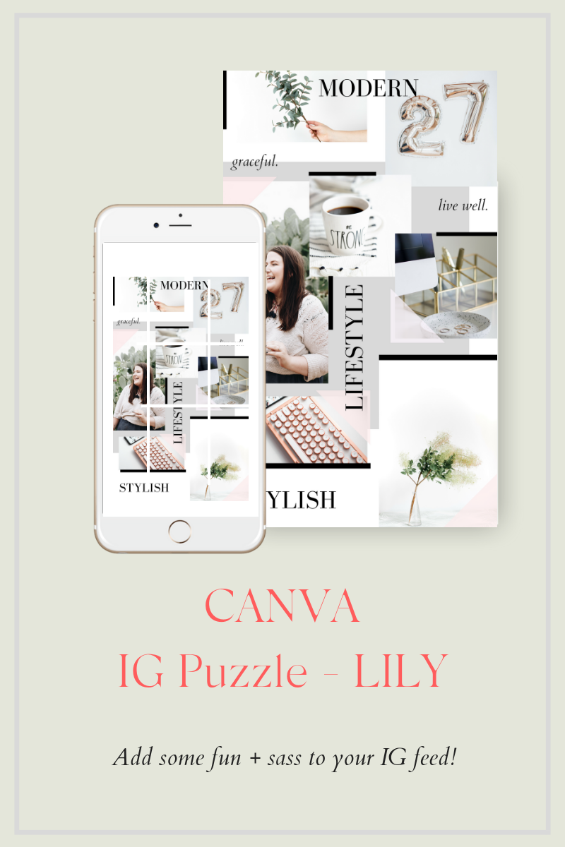 """Template Social Media #76141 """"Instagram Puzzle LILY"""""""