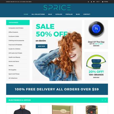 Купить  пофессиональные Shopify шаблоны. Купить шаблон #76200 и создать сайт.