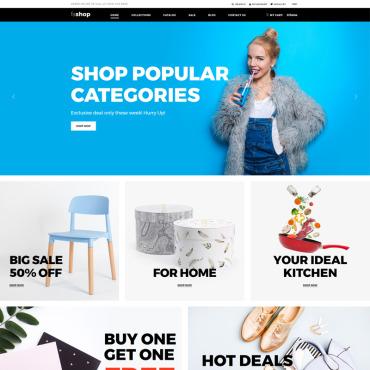 Купить  пофессиональные Shopify шаблоны. Купить шаблон #76274 и создать сайт.