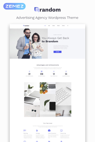 Brandom - Advertising Agency Multipurpose Minimal Elementor