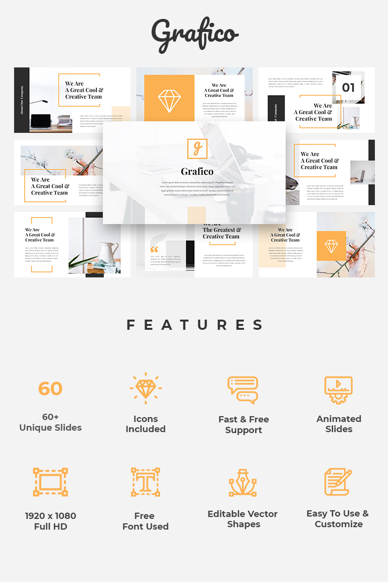 Grafico - Creative Template PowerPoint №76285