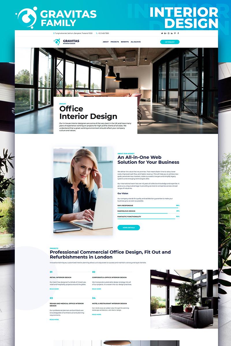 Gravitas - Interior Design MotoCMS 3 №76233