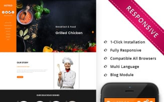 Hotrod Fast Food - Responsive OpenCart Template