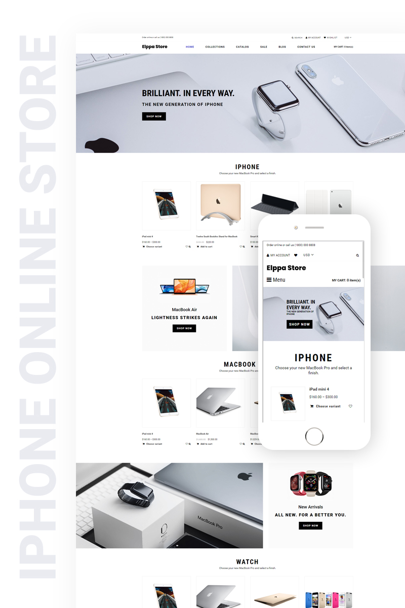 "Modello Shopify Responsive #76286 ""Eppla Store - Electronics & Gadgets Clean"""