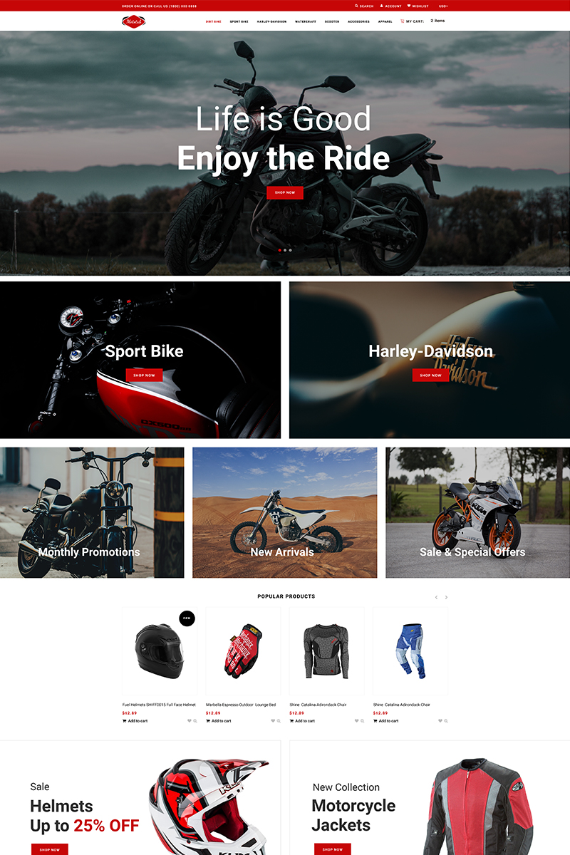 Mototab - Cars & Motorcycle Modern Shopify Theme - screenshot