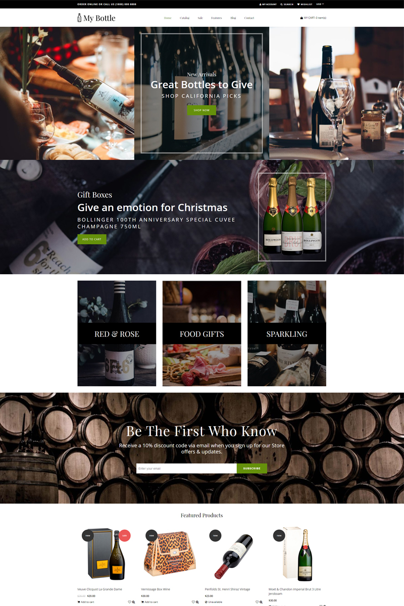 MyBottle - Drinks & Beverages Clean Shopify Theme