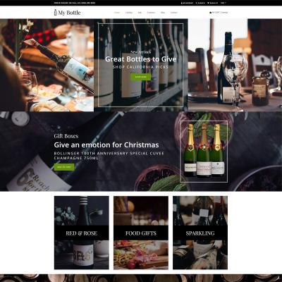 Thème Shopify adaptatif  pour site de brasserie
