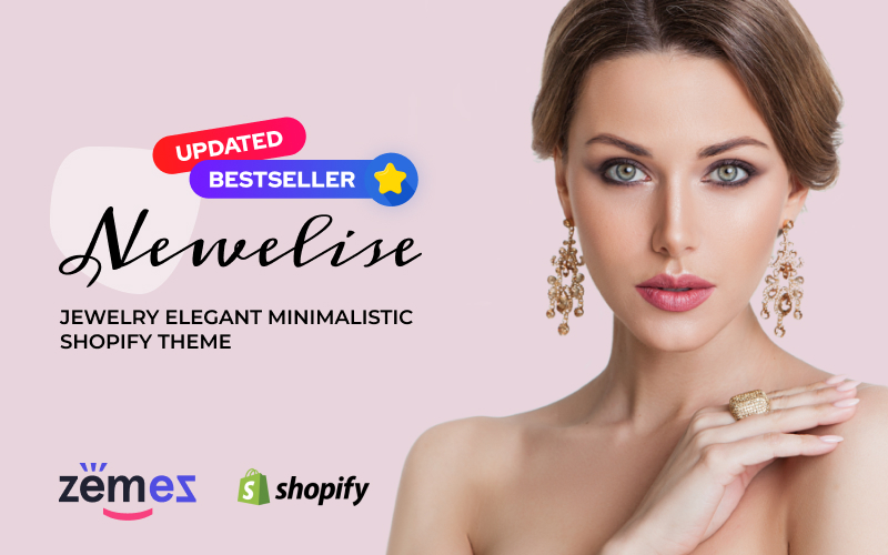 """Newelise - Jewelry Elegant Minimalistic"" thème Shopify adaptatif #76258"