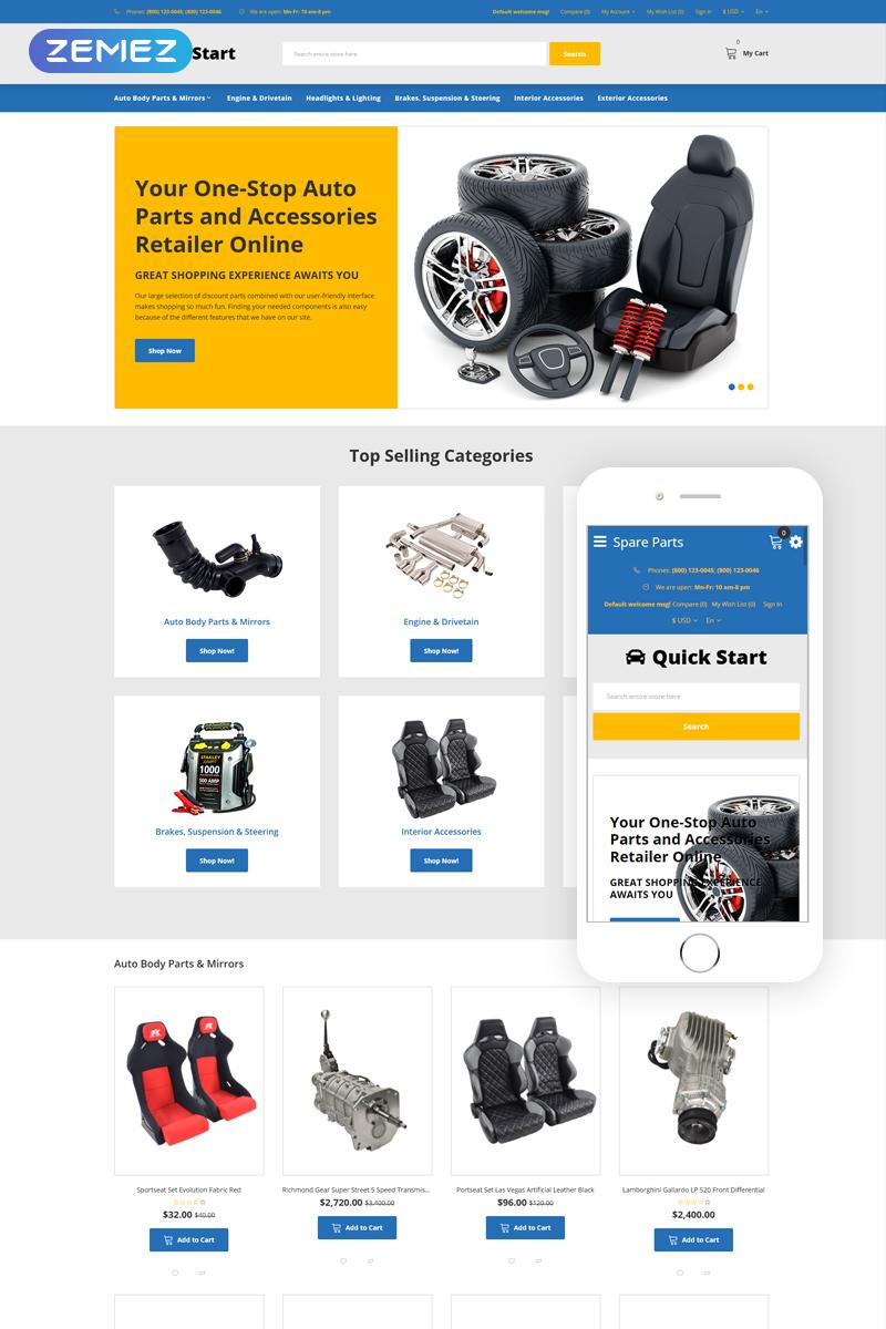 "Plantilla OpenCart ""Quick Start - Cars & Motorcycles E-commerce"" #76289"
