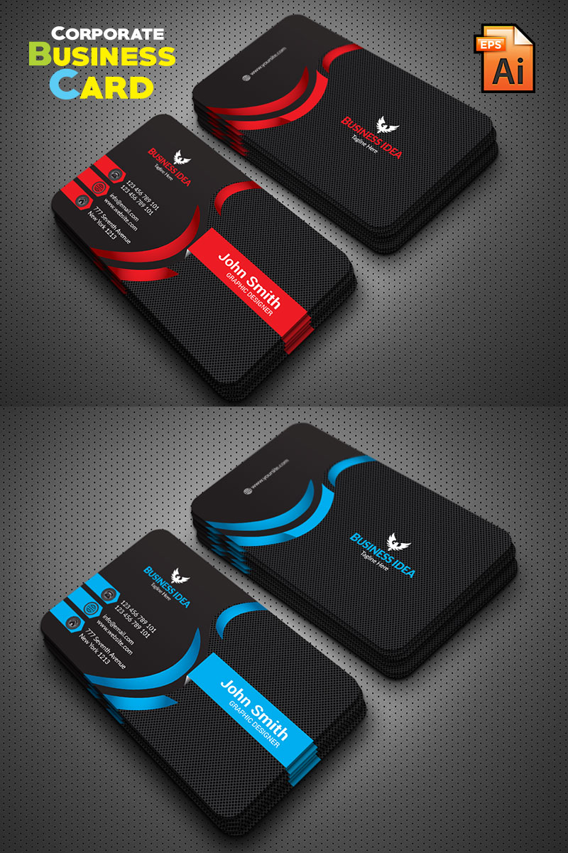 Professional Business Card Template de Identidade Corporativa №76215