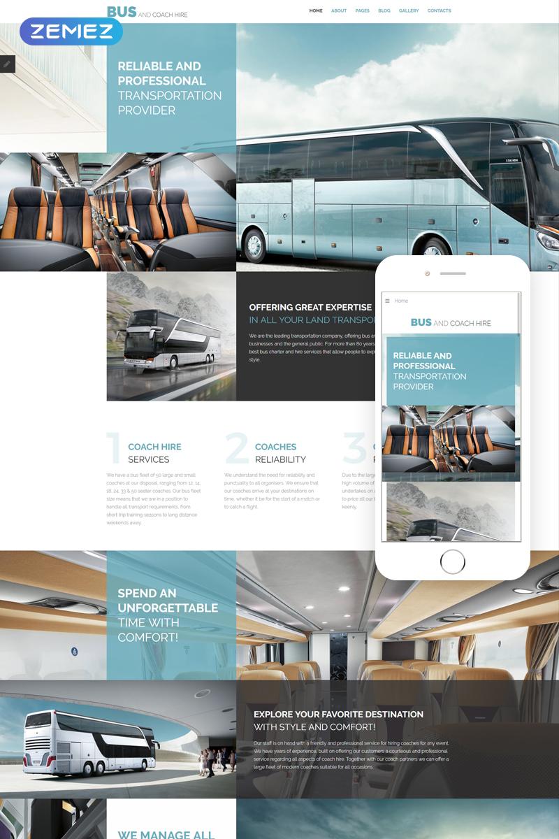 Responsive Bus and Coach Hire - Transportation Minimalistic Joomla #76280