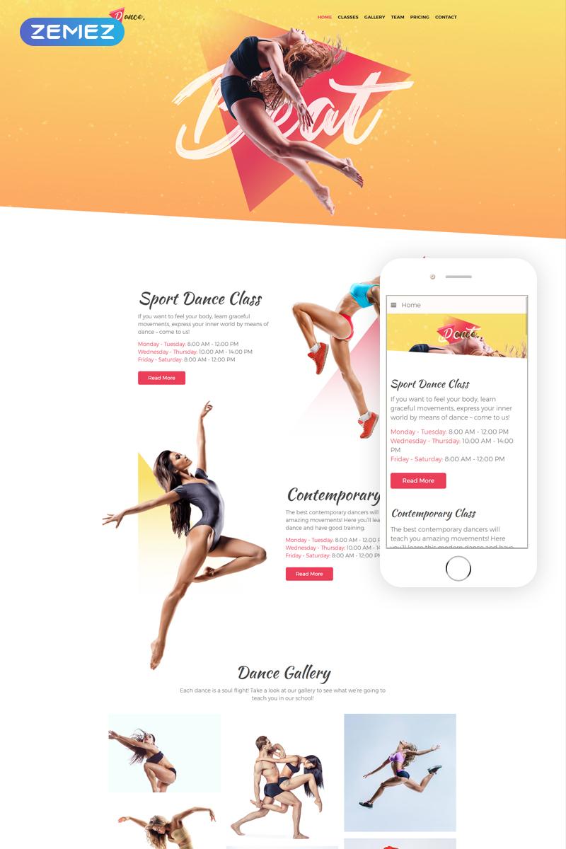 Responsive Dance - Dance Studio One Page Creative Joomla #76284