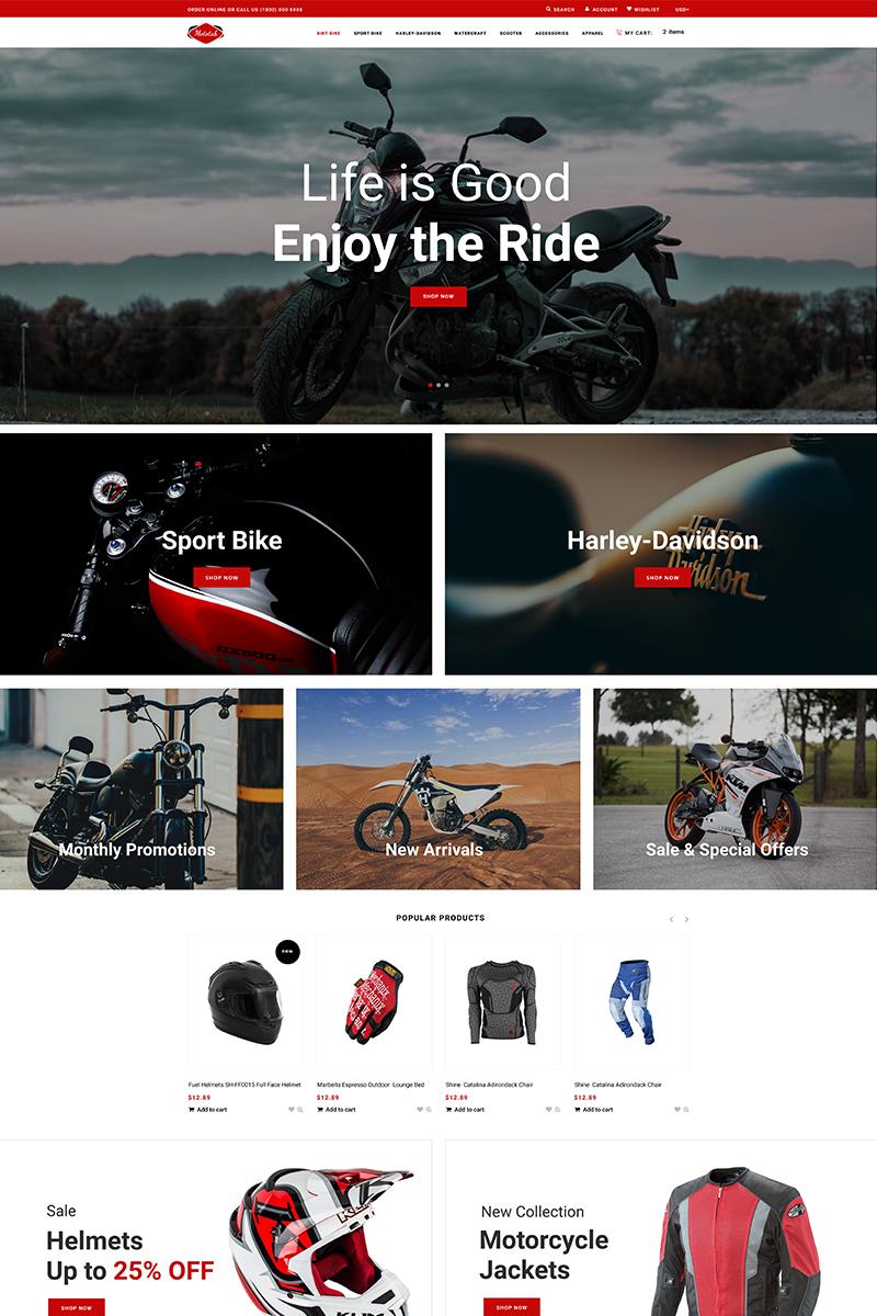 Responsivt Mototab - Cars & Motorcycle Modern Shopify-tema #76275 - skärmbild