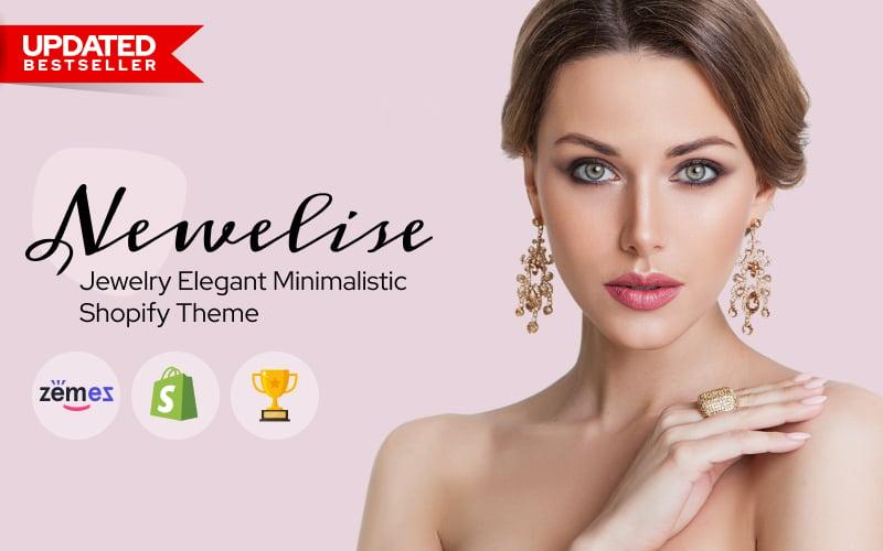 Responsywny szablon Shopify Newelise - Jewelry Elegant Minimalistic #76258