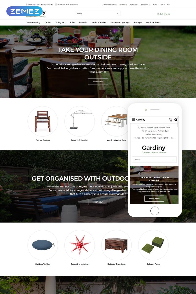 "Template OpenCart Responsive #76201 ""Gardiny - Furniture Parallax Elegant"""