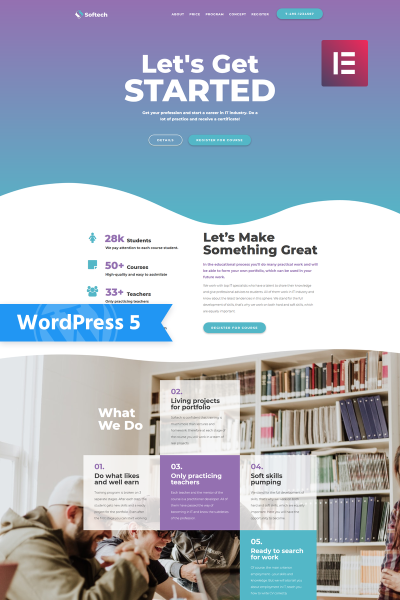 Адаптивный WordPress шаблон №76295 на тему образование