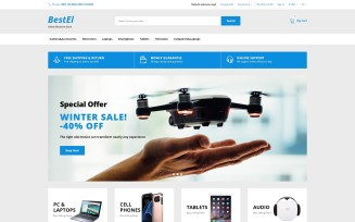 BestEl - Electronics Store Ready-To-Use Minimalistic OpenCart Template