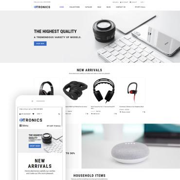 Купить  пофессиональные Shopify шаблоны. Купить шаблон #76382 и создать сайт.