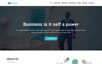 Clarimy - Multipurpose Business Landing Template