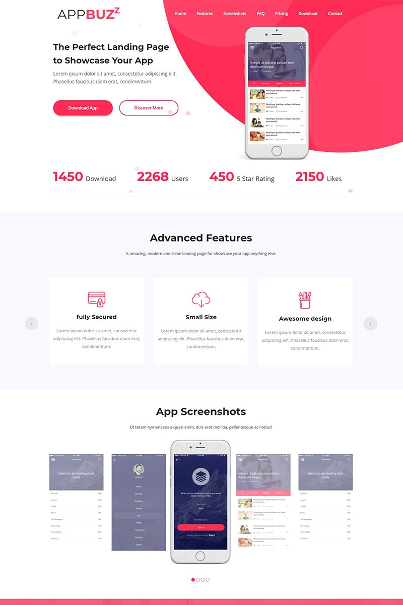 Appbuzz Landing Page Template