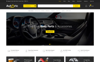 Autoric - Auto Spare Parts WooCommerce Theme