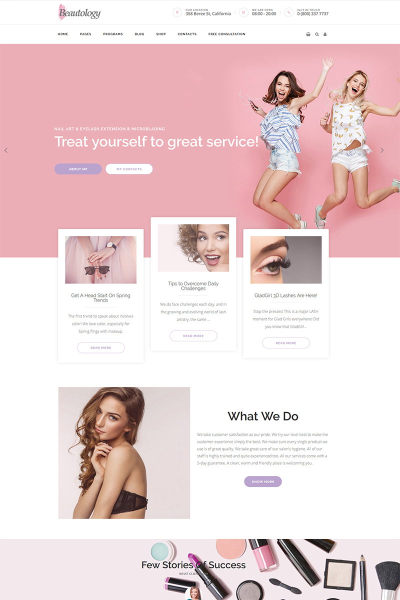 Beautolog - Health Care, Nutrition and Beauty WordPress sablon 76398