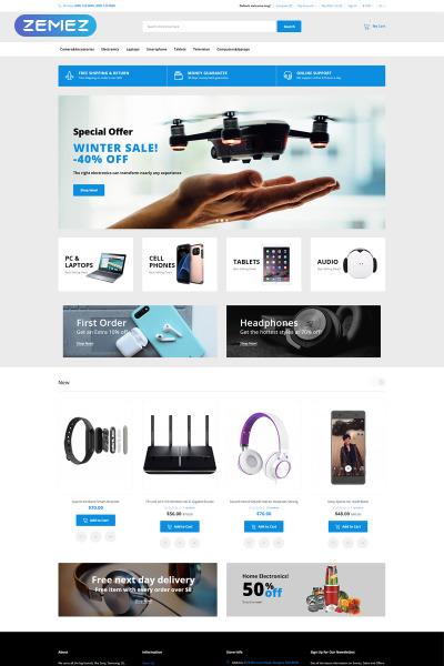 Thème OpenCart adaptatif  pour magasin d'électronique
