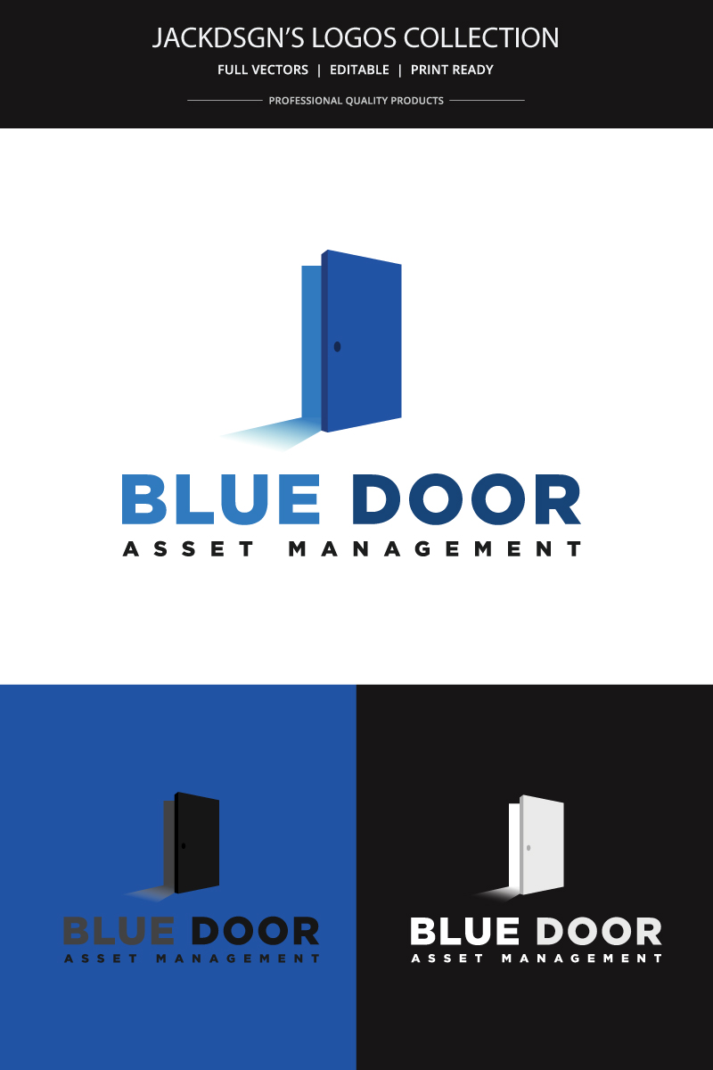"""Blue Door"" - Шаблон логотипу №76345"