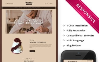 Creamio Cake Shop Responsive OpenCart Template