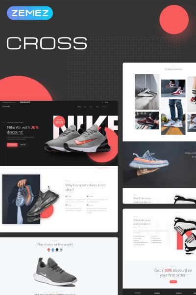 Cross - Athletic & Casual Shoes Store Elementor