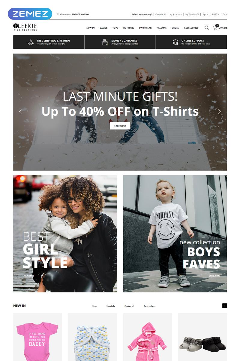 Fleekie - Kids Fashion & Clothing Clean OpenCart Template - screenshot
