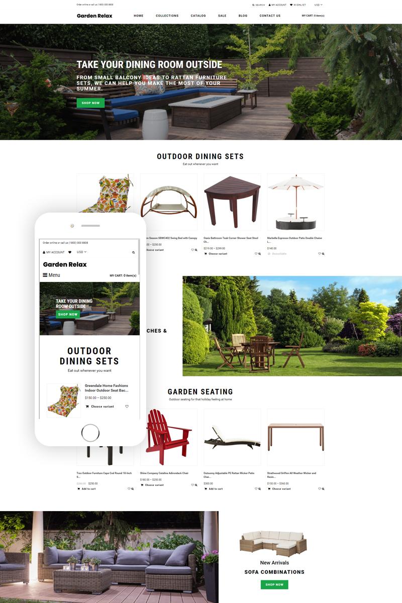 Garden Relax - Furniture Ready-To-Use Clean Tema de Shopify №76330