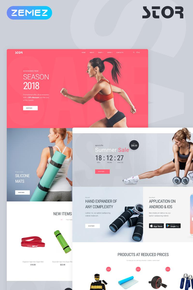 Responsivt Stor - Fitness Accessories Store Multipurpose Classic Elementor WooCommerce-tema #76370