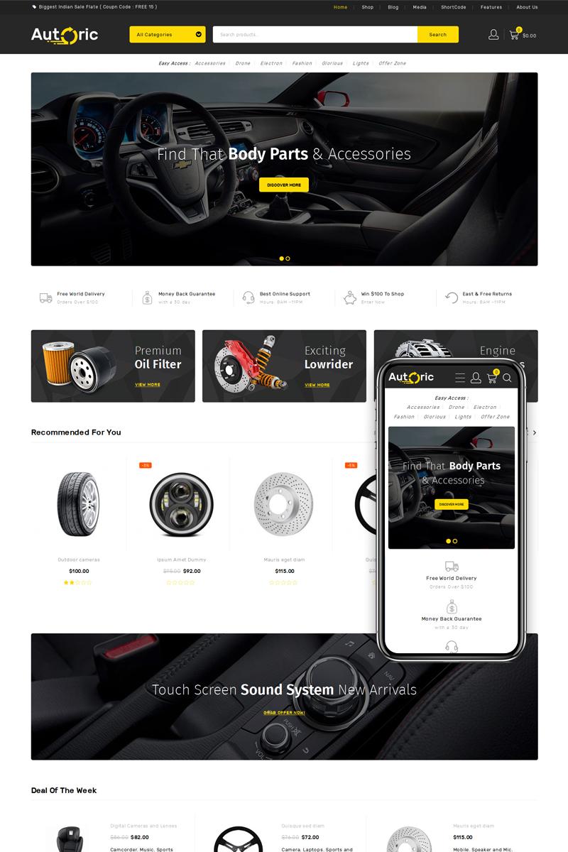 Reszponzív Autoric - Spare Parts Store WooCommerce sablon 76375