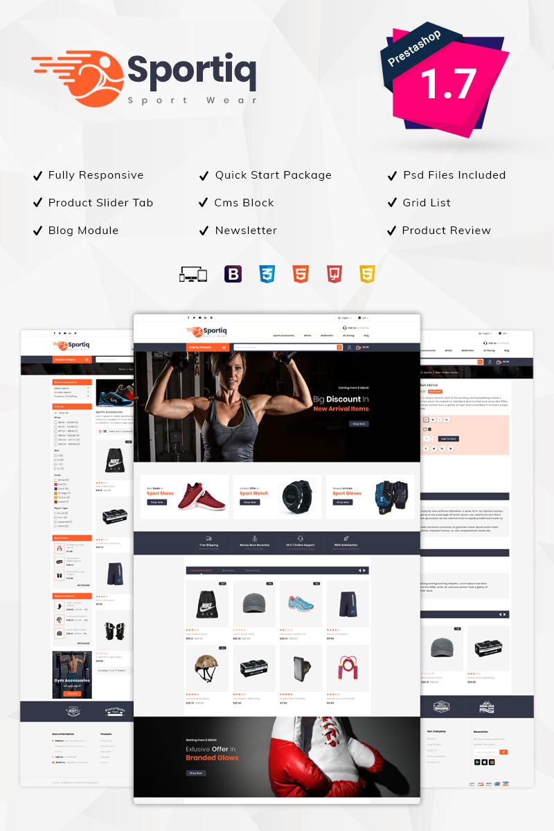 Sportiq Sports Store Tema PrestaShop №76385