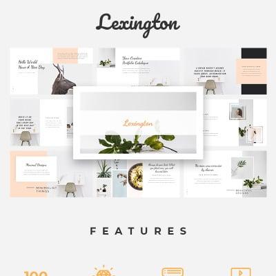 "Template PowerPoint #76318 ""Lexington Lookbook"" #76318"