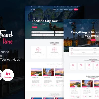 TravelTime - Complete Tour & Travel Agency WordPress Theme WordPress Theme #76397