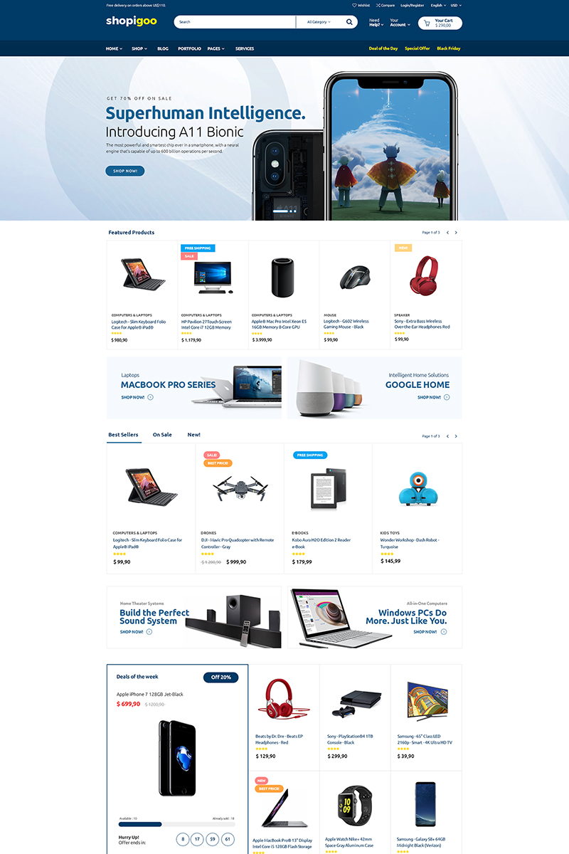 """WooCommerce Theme namens """"Shopigoo"""" #76353"""