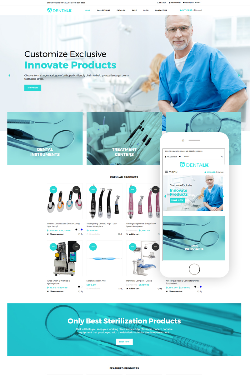 Dentalk - Responsive Clean Bootstrap Shopify Theme