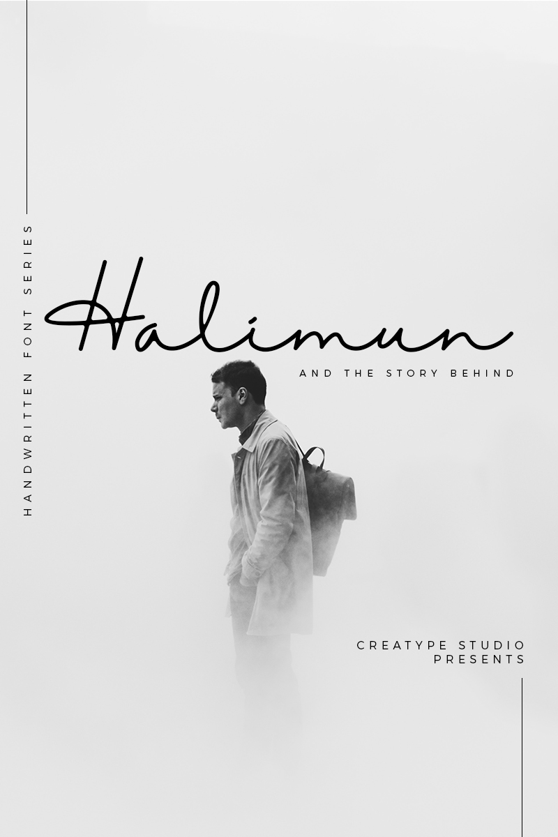 Halimun Script Style Creative Font - screenshot
