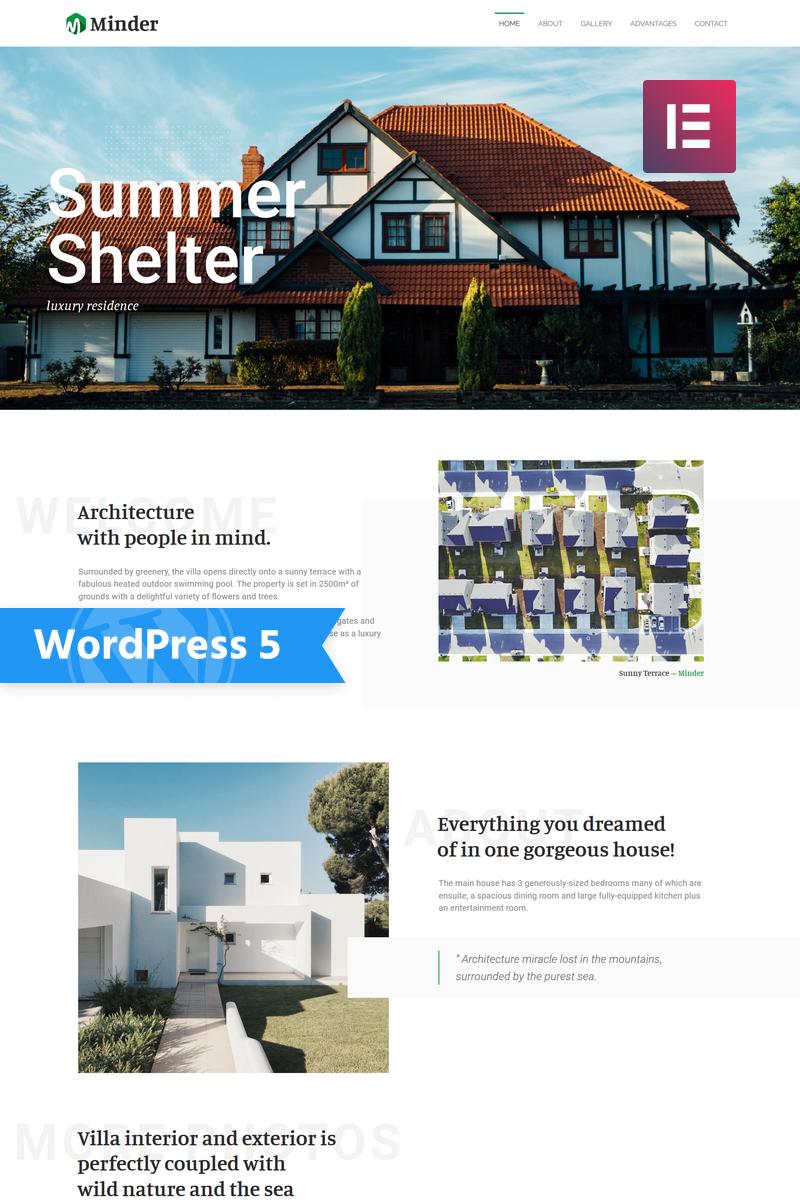 """Minder - Luxury Residence Multipurpose Classic Elementor"" 响应式WordPress模板 #76477"