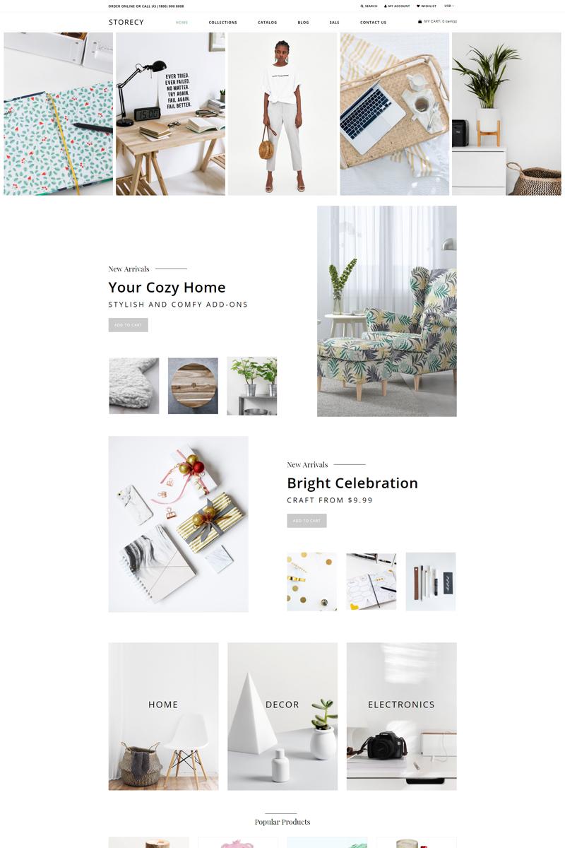 """Storecy - Wholesale Mega Menu Minimalistic"" Responsive Shopify Thema №76483"
