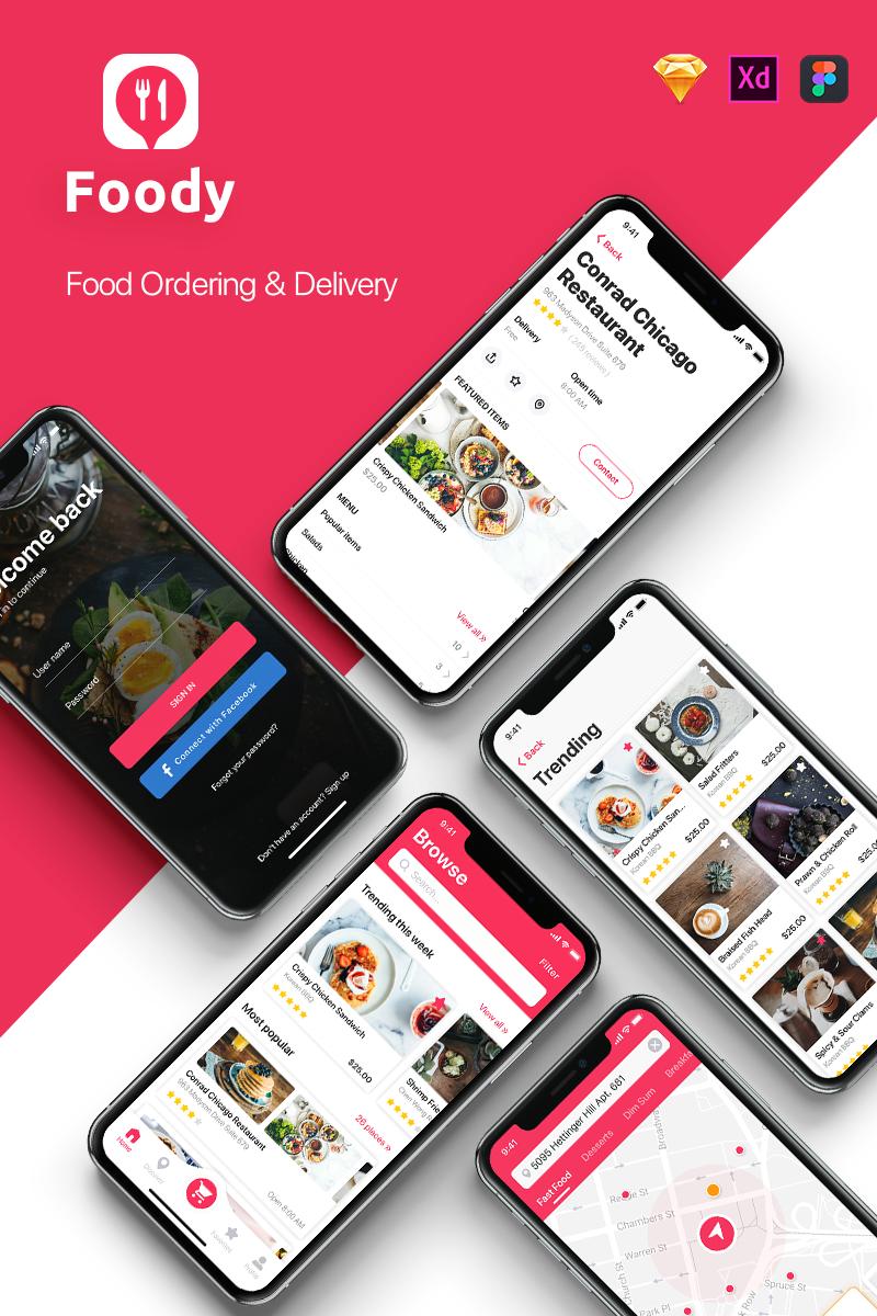 """Template Elementi UI #76447 """"Foody - Food App"""" - screenshot"""